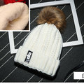 2016 fur ball thick wool velvet winter hats for women pompom Skullies beanies Ladies Knit Cap ski bonnet femme