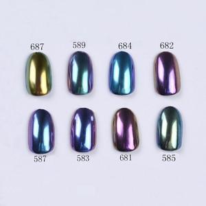 Image 3 - BORN PRETTY 8Pcs/Set Bling Mirror Nail Glitter Chameleon Powder Gorgeous Nail Art Sequins Chrome Pigment Glitters