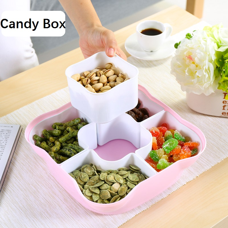 Candy Box with lid dried fruit seeds plate fruit Snack box storage box