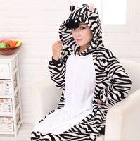 Couples Pajamas Panda Women S Zebra Full Sleeve Hooded Polyester Pajama Sets Pijama Mujer Women Pajama