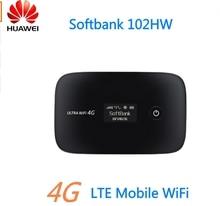 Оригинальный разблокирована Huawei softbank 102HW Мобильный Wi-Fi 3 г WCDMA 2100 мГц USIM модем Мини Wi-Fi роутера PK E587 e5220 E5330