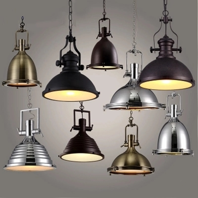 American Loft Style Iron Droplight LED Pendant Light Fixtures For Dining Room RH Hanging Lamp Vintage Industrial Lighting american loft style iron retro droplight edison industrial vintage led pendant light fixtures dining room hanging lamp lighting