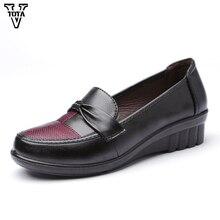 Женская Обувь Клинья Обувь Мода Женщина Комфортно Платформы Повседневная Обувь Дизайн Леди Твердые Мокасины Скольжения на Мягкой Случайные обувь