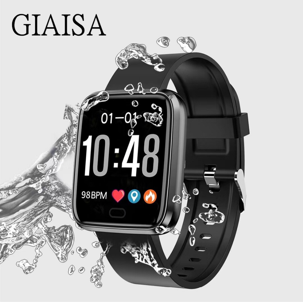 New sports waterproof smart bracelet sphygmomanometer fitness tracker pedometer for Android IOS