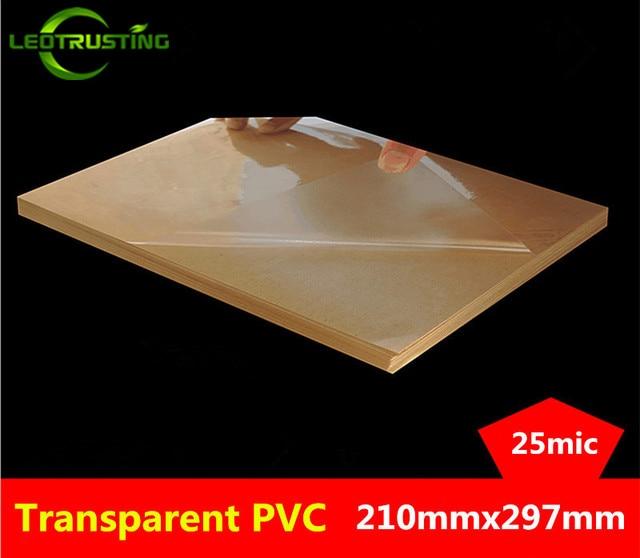 50 yaprak A4 Boyutu 210mm x 297mm Temizle Boş Parlak PVC Etiket Vinil PVC Etiket Baskı PVC A4 yapışkanlı Etiket Lazer Yazıcı için