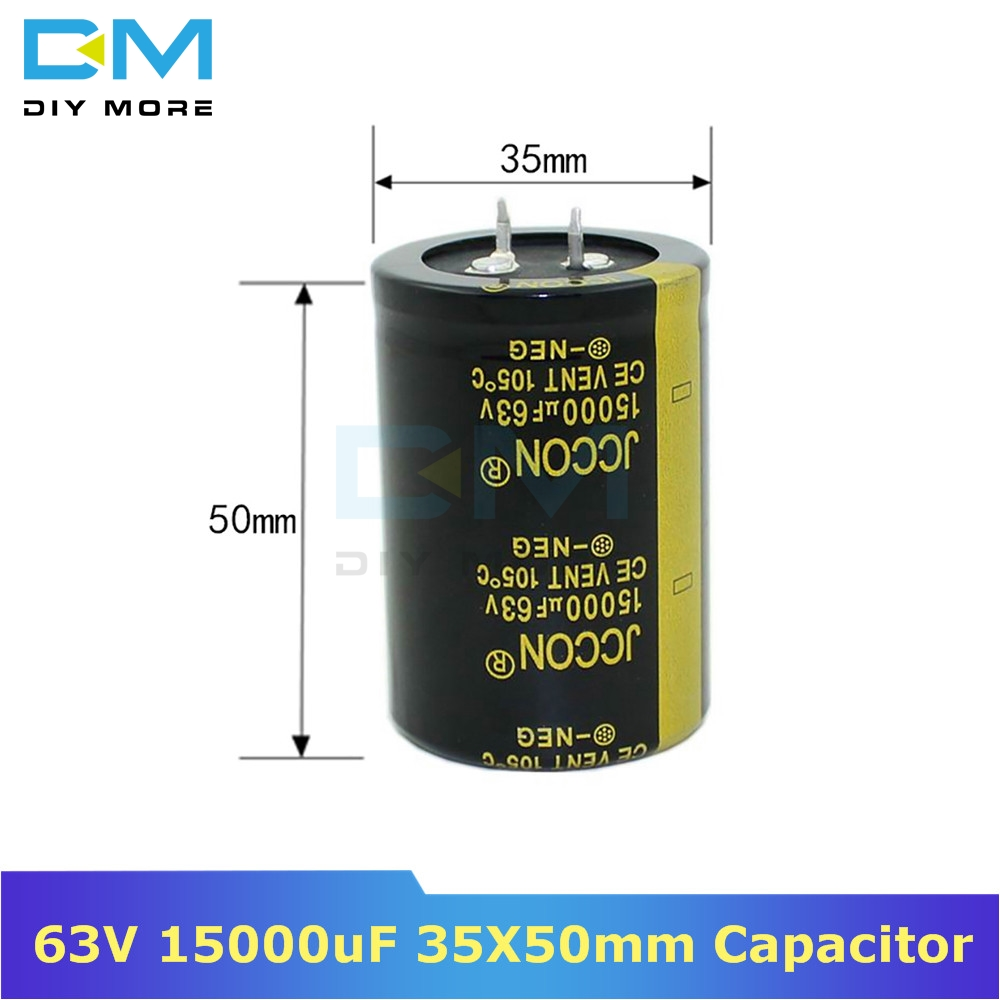 63V 15000uF 35X50mm 35X50 Aluminum Electrolytic Capacitor High Frequency Low Impedance Through Hole Capacitor 35*50mm Diymore