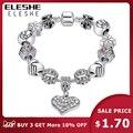 Pulsera de marca de lujo para mujer pulsera de cristal Chapado en plata para mujer DIY 925 pulseras y brazaletes de joyería de regalo