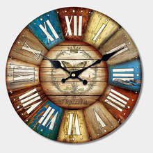 hot deal buy vintage wall clock food design creative silent living room cafe kitchen wall clocks watches home decor retro large wall clocks