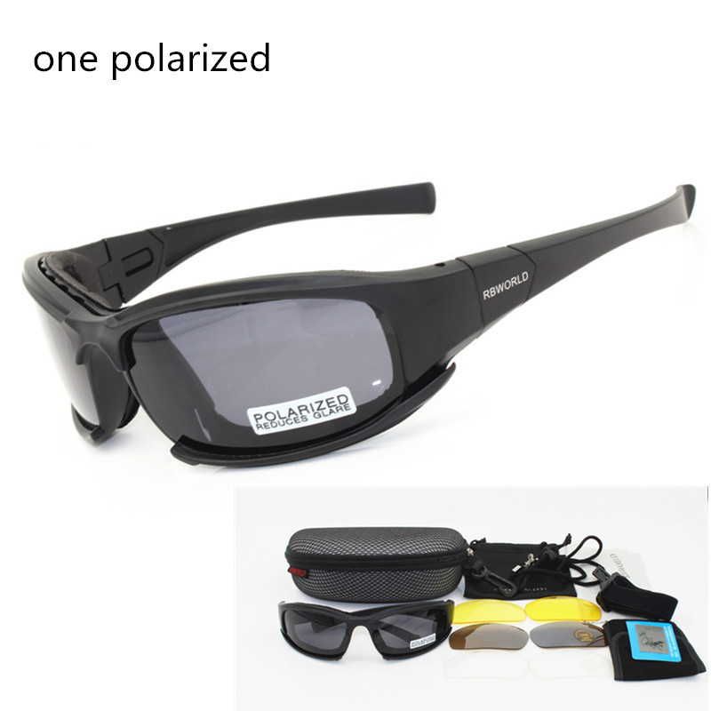 X7 Army Goggles Sunglasses Men Military Sun glasses Male 4 Lens Kit For Mens War Game Tactical Glasses Polarized lens