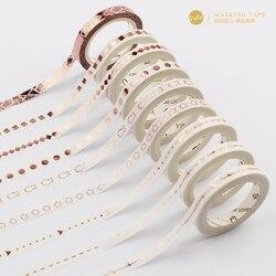 5mm x 5m rosa folha de ouro fino washi fita diy decoração scrapbooking planejador máscara fita adesiva etiqueta papelaria