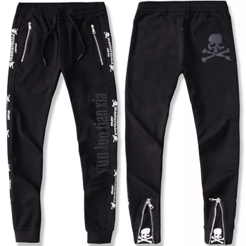 Winter plus size 2xl-7xl  8XL mens fleece sweatpants casual print elastic waist long trousers large Chinese style zipper pants