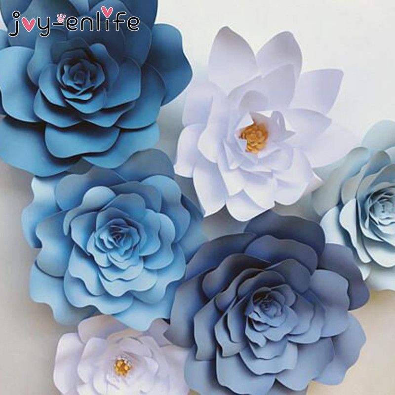 JOY ENLIFE 2pcs 20cm DIY Paper Flowers Kids Birthday Party Backdrop Decor Wedding Hen Home Room Supplies In Artificial Dried