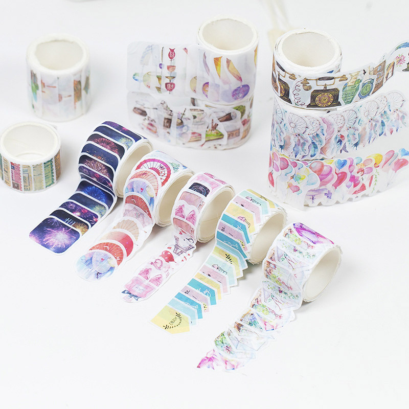 DIY Kawaii Foods Crystal Forest Japanese Washi Tape Masking Decorative Adlhesive Tape Scrapbooking Stickers Cute Stationery blue whale washi tape papelaria material escolar masking tape stickers scrapbooking washitape fita japanese stationery