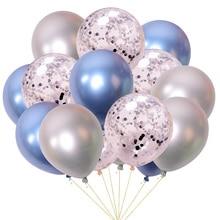 15Pcs Birthday Party Decoration Gold Silver Mixed Metallic Balloons Baby Shower Wedding Decor confetti Baloon