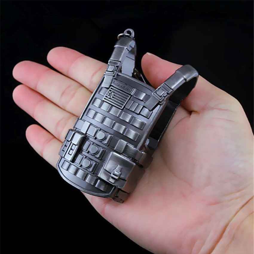 Game Pubg Playerunknowns Battlegrounds Cosplay Props Alloy Level 3 Vest Military Body Armor Model Key Chain Keychain Costume Props Novelty & Special Use