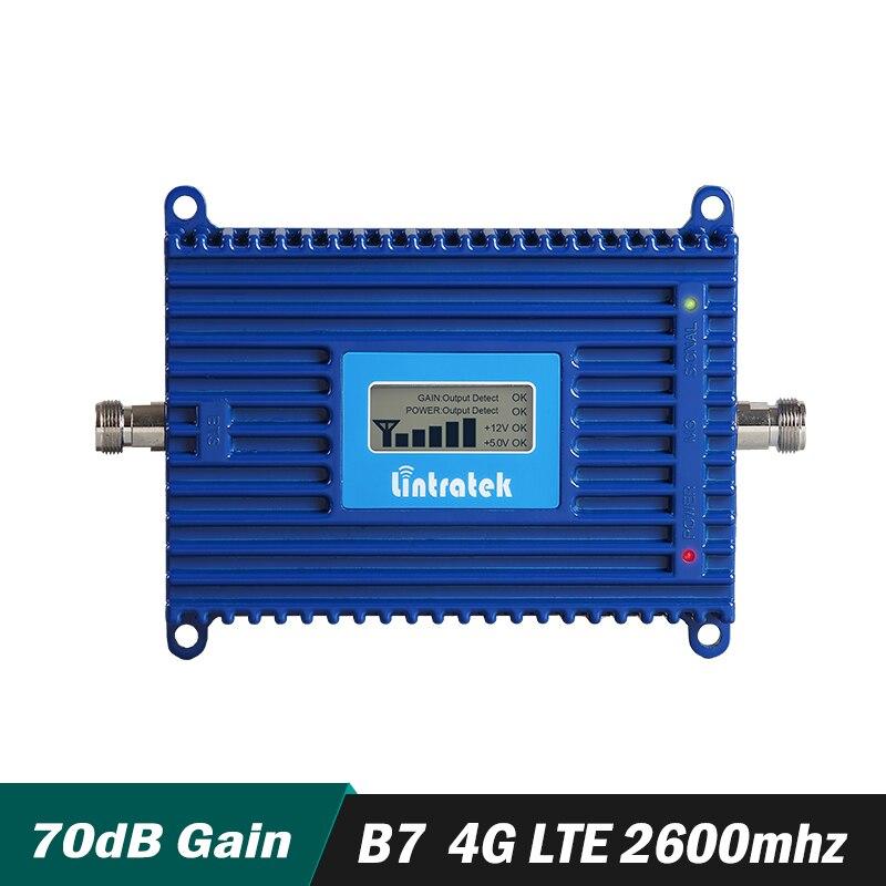 Ganho 70dB 4g LTE FDD LTE 2600 mhz Reforço de Sinal Banda 7 4g LTE 2600 mhz Móvel Celular repetidor de sinal Amplificador com display lcd