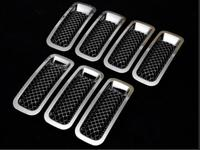 ABS Car Front Mesh Grill Grille Decoration Cover Trim Stickers for Jeep Patriot 2011+ Exterior Accessories Car Styling
