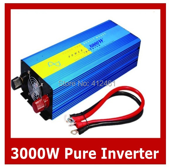 3000W Power Inverter Pure Sine Wave 12V DC to 220V AC Converter Car inverters AC Adapter Power Supply Dropshipping
