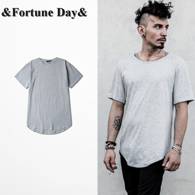 3fab95571 New 2016 summer High Street Men Hip Hop T-Shirt Grey Tops Tees O-neck Short  Sleeve Cotton Kanye West Casual Arc CuT Shirt