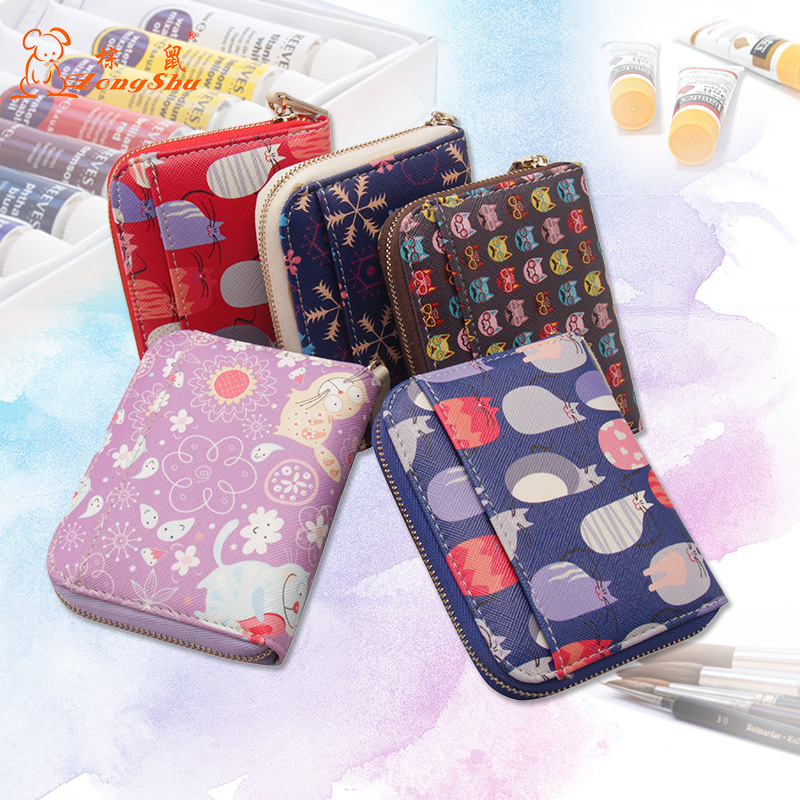 55d42b60a0d3 Detail Feedback Questions about Cute Cartoon Cat Zipper Wallet Genuine Leather  Woman Small Change Wallet Separated Coins Pouch Wallet Portable Animal Tiny  ...