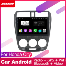 ZaiXi android car dvd gps multimedia player For Honda City 2008~2013 car dvd navigation radio video audio player Navi Map набор воланов для бадминтона magic home цвет разноцветный 12 шт