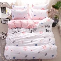 Flower Leaf 4pcs Girl Boy Kid Bed Cover Set Duvet Cover Adult Child Bed Sheets And Pillowcases Comforter Bedding Set 2TJ 61021