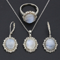 10*12mm Moonstone Sets High Quality Twilight Fine Jewelry Bella Same 925 Silver For Gifts