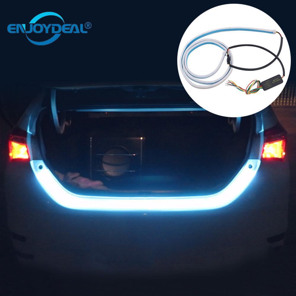 Enjoydeal 12V Waterproof LED Car Tail Trunk Tailgate Strip Light Brake For Car Brake Turn Signal Light Bar Flow Type Led Strip