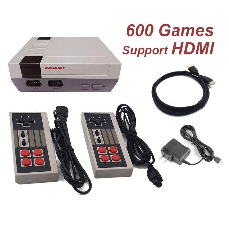 Мини ТВ игровой консоли Поддержка HDMI Ретро игровая консоль Встроенный 8-бит 600 классические игры Ручной игровой плеер