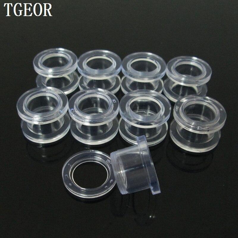 Darmowa wysyłka mieszane 8 wskaźniki 160 sztuk akrylowe przezroczyste śruba na ucho tunele w Biżuteria do ciała od Biżuteria i akcesoria na  Grupa 1