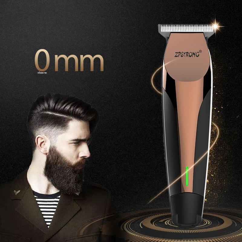 100-240 V profesional Clipper pelo Trimmer eléctrico del pelo 0,1mm de corte de pelo de la barba pelo clipper recargable