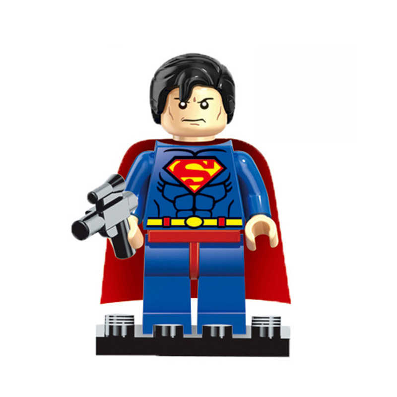 Marvel Super héroe spiderman iron man Wonder Woman guardianes de la galaxia Batman X hombre flash bloques de construcción figuras de juguete