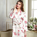 Robe female 100% cotton long-sleeve female robe bathrobes spring and autumn long-sleeve
