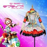 Love Live! Nishikino Maki Cos Awakening Crayon/Painter Cosplay Costume Custom Women Dress Skirt Adult Stockings Hat Scarf Gloves