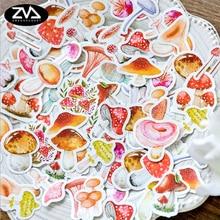 46pcs/lot Cuddly mushroom mini paper sticker Decoration DIY Scrapbooking Sticker kawaii diary label sealing stickers