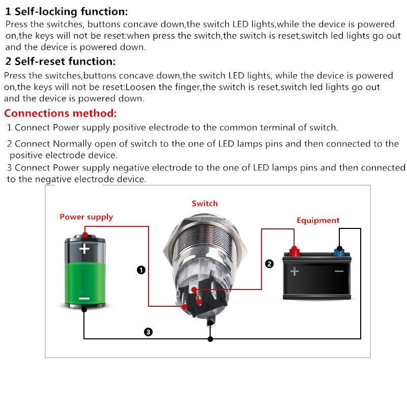 Interruptores e Relés led de alimentação botão interruptor Tipo de Ítem : Switches