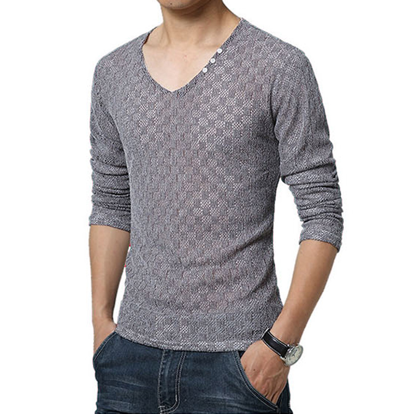New arrival sexy mens t shirts fashion 2016 v neck slim for Long t shirt trend