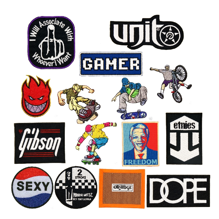 12pcs/Lot Freedom Gamer Street Fashion Style Patches For Clothing Embroidered Patch For Backpacks For Jeans