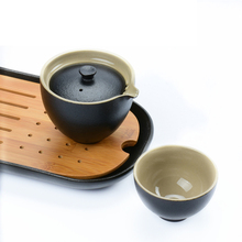 Vintage Ceramic Kung Fu Tea Set Chinese Hand Made Travel Teapot Include 1 Pot 1 Cup Ceramic Kettle Simple Gaiwan Tea Service vintage travel tea set include 1 pot 4 cups ceramic portable tea pot hand made kung fu tea tea cups chinese gaiwan tea kettle
