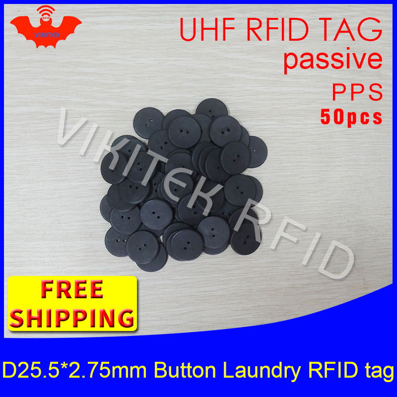 RFID laundry button tag water resisting UHF EPC Gen2 6C 915mhz 868mhz Higgs3 50pcs free shipping smart passive RFID PPS tags 100pcs high temperature resistant uhf rfid pps laundry tag small with alien h3 chip used for laundry management