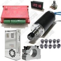 250W 53Ncm DC24V Brushless spindle 42mm motor& driver& power supply & Speed indicator & Potentiometer & ER11 Collets Match MACH3