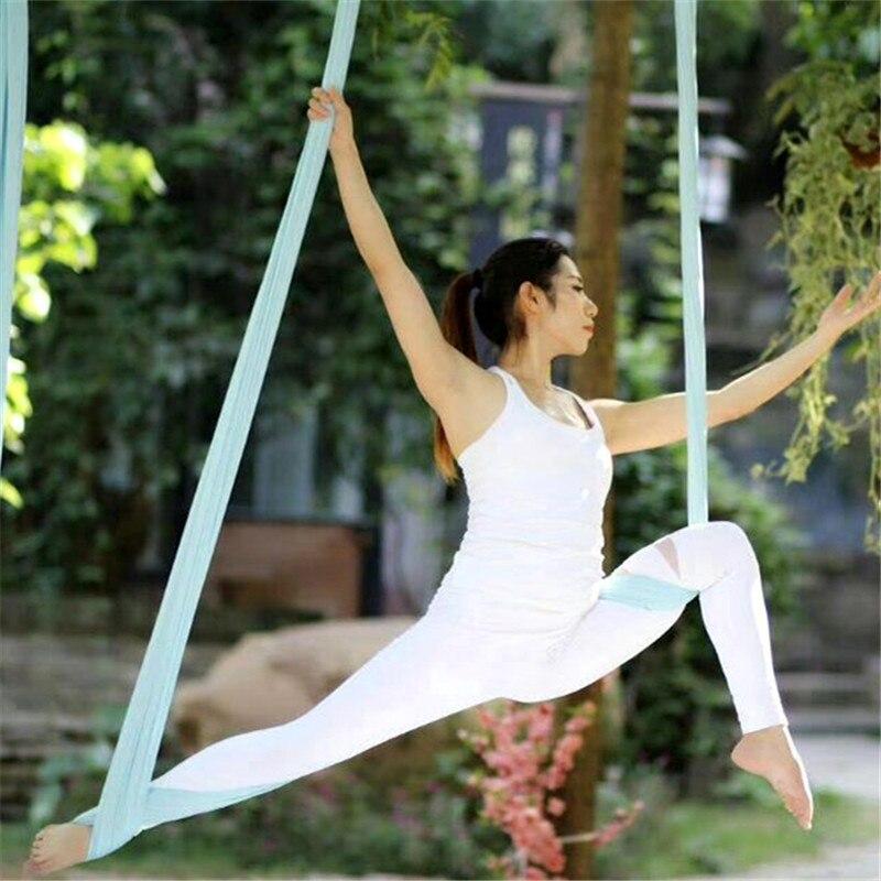 Image 5 - 5Meter Aerial Yoga Hammock Elasticity Swing Multifunction Anti gravity yoga training BeltsYoga Belts   -