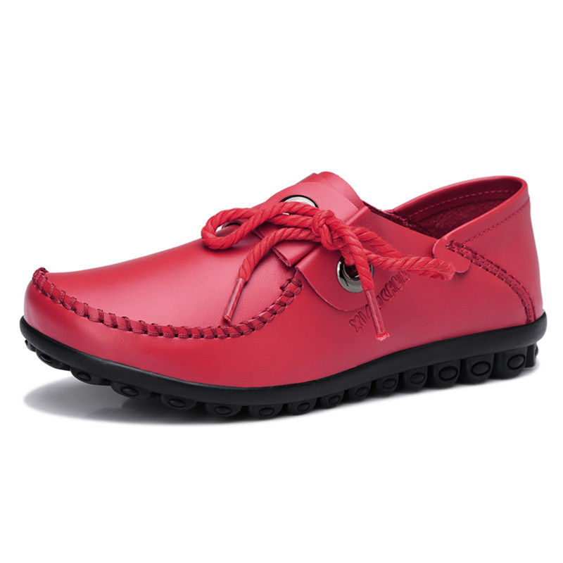 JARLIF Hot Sale Women PU Leather Shoes Moccasins Mother Loafers Soft Leisure Flats Female Driving Casual