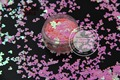 TCI18 Pearlescent Indescent Light Pink  Colors Mickey Mouse shape Glitter 4.0MM Size Glitter for nail Art nail gel makeup