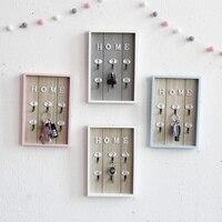Decoración de pared para el hogar  hecho a mano para llave gancho de madera  caja de almacenamiento de carga  abrigo de pared multiusos  llaves y bolsos  gancho colgante para ropa  soporte de almacenamiento|Ganchos y rieles| |  -
