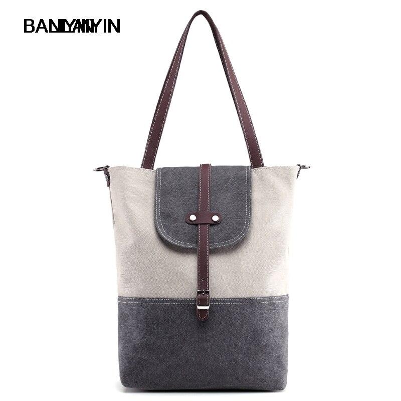 Canvas  Handbags Patchwork Casual Female Shoulder Bags Messenger Bag Summer Totes Bolsa Feminina