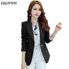 OLGITUM 2018 New Fashion women's basic jacket coat female slim outerwear Office lady suits Spring Autumn Jacket womenblaser