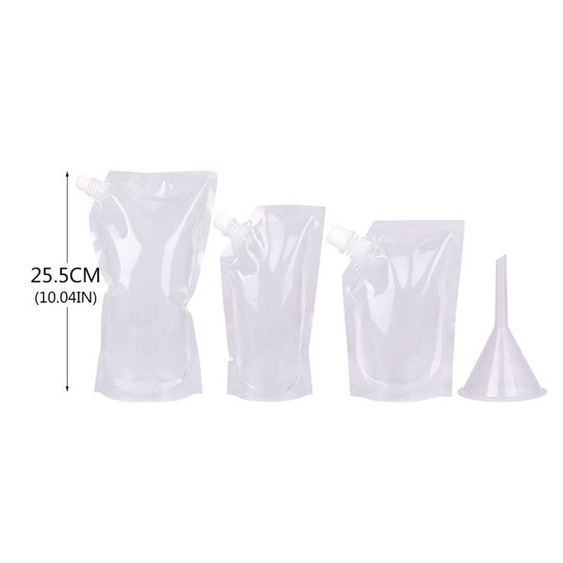 Plastic Drink Packaging Bag Pouch for Beverage Juice Milk Coffee, with Handle and Holes for Straw