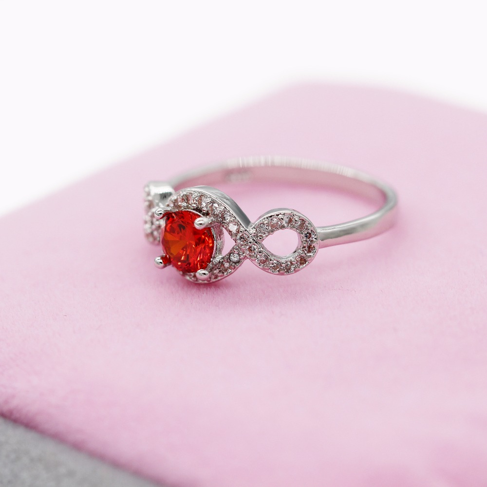 Uloveido Red Crystal Engagement Rings for Women Cubic Zirconia ...