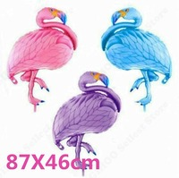 50pcs 87*46cm Flamingo Foil Balloon Party Hot bird balloons Birthday Party Wedding Decor Air Baloons Event Party Supplies